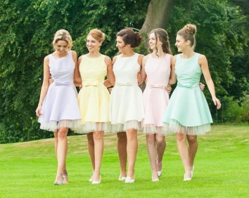 vestido-de-festa-short-knee-length-font-b-pretty-b-font-bridesmaid-font-b-dresses-b